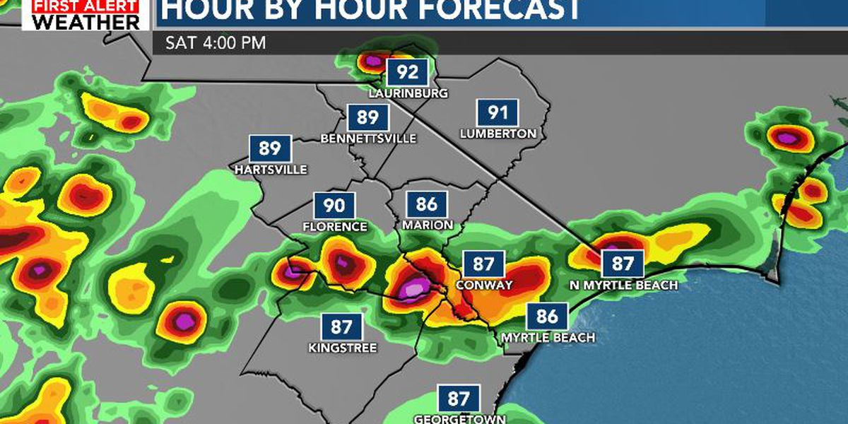 FIRST ALERT: Scattered storms continue Saturday