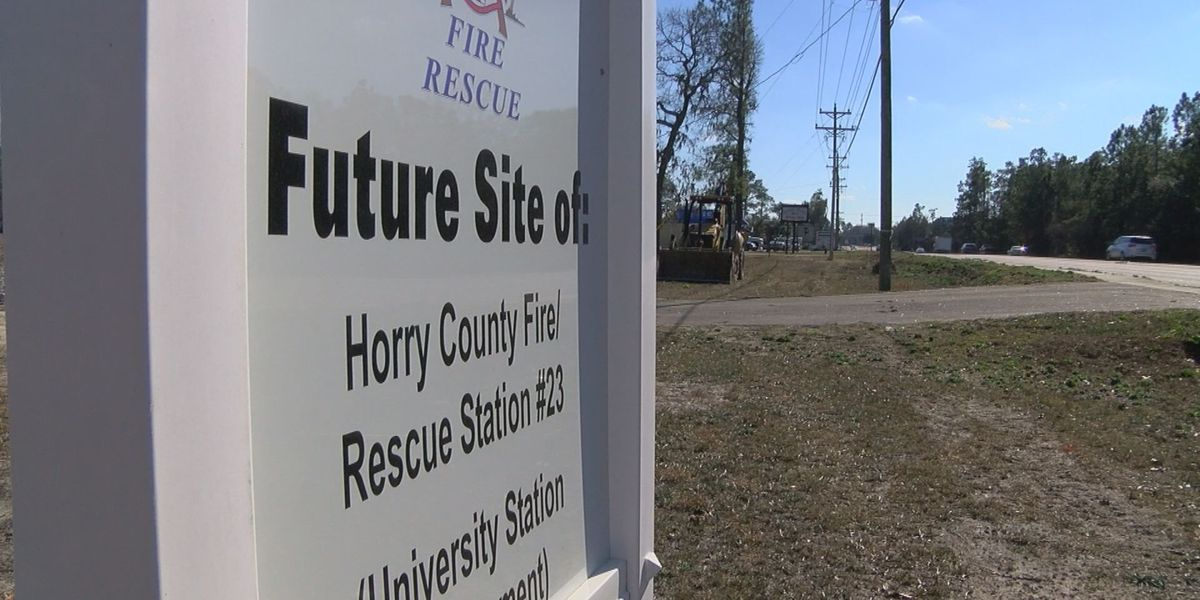 Site work begins for new fire station along S.C. 544