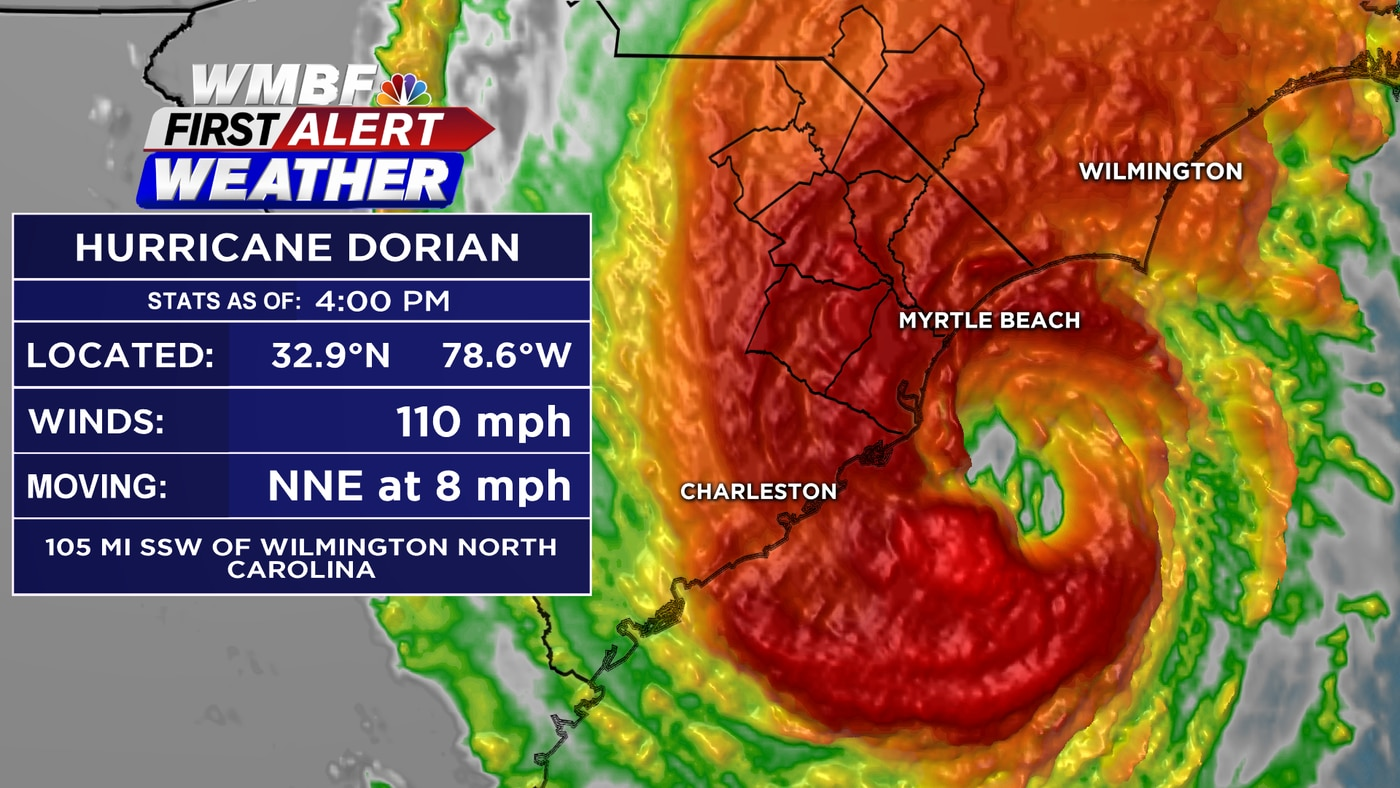 FIRST ALERT: Dorian is a Category 2 hurricane, impacting the