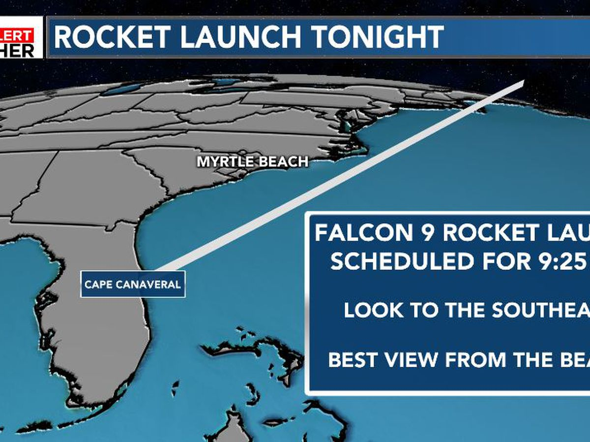 FIRST ALERT: SpaceX rocket launch may be visible this evening