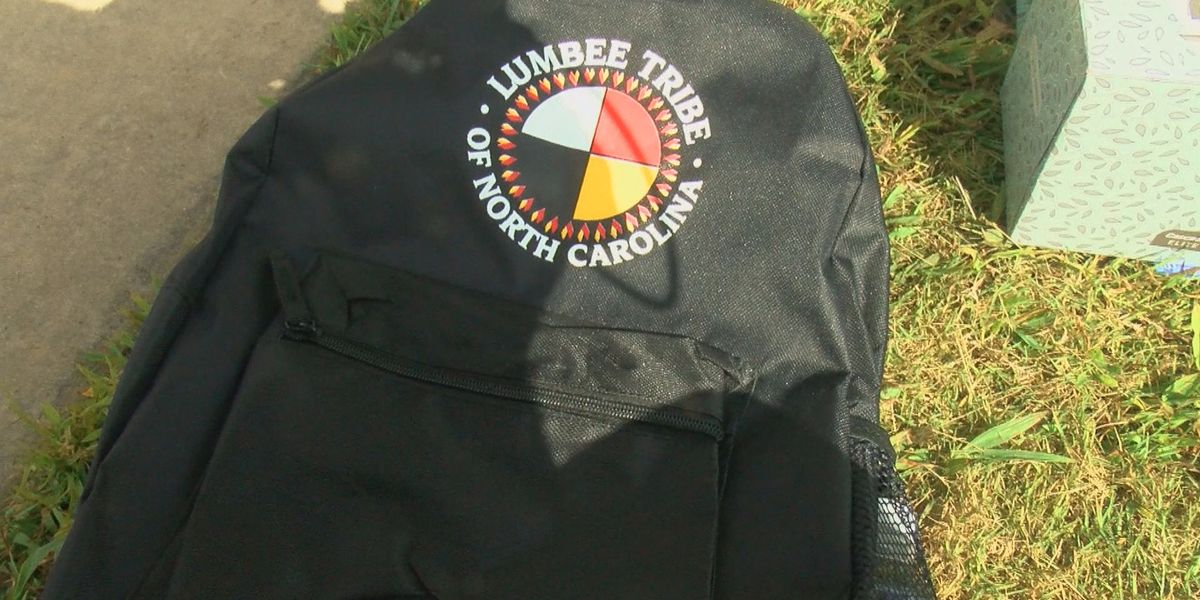 Lumbee Tribe of North Carolina gives away backpacks to children in the community