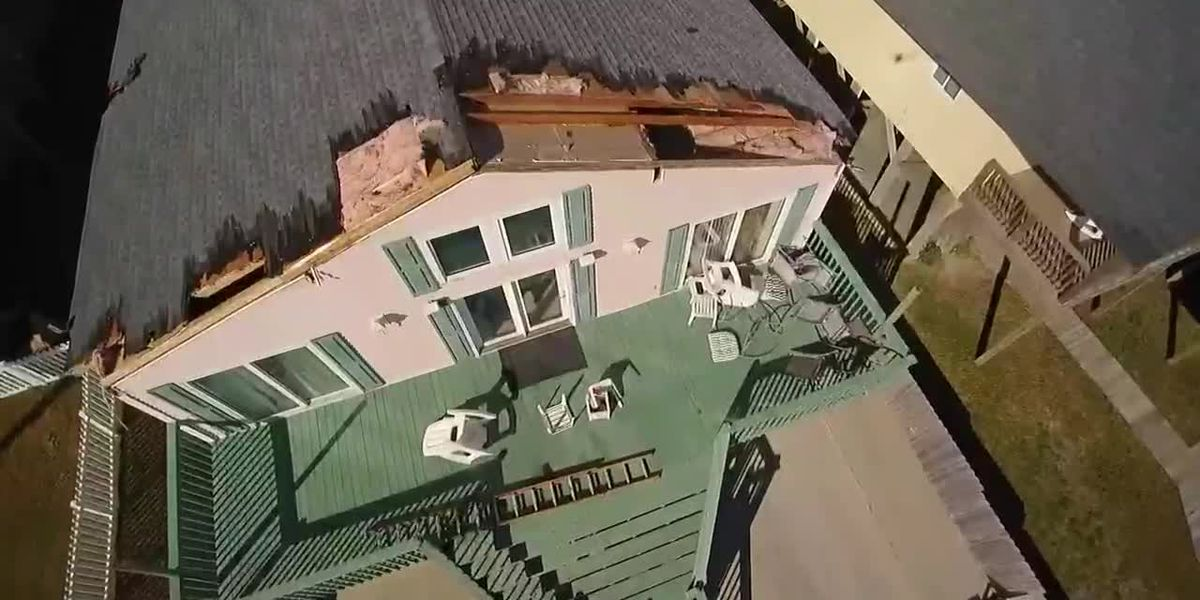 'It was scary': Storm rips portion of roof off home in North Myrtle Beach