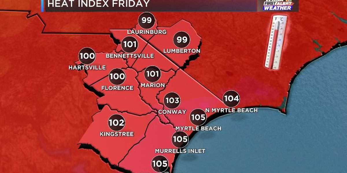 FIRST ALERT: Summer heat streak continues with 100° heat index through the weekend