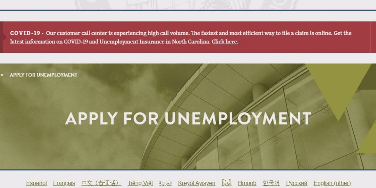 First unemployment checks to be issued this week in NC