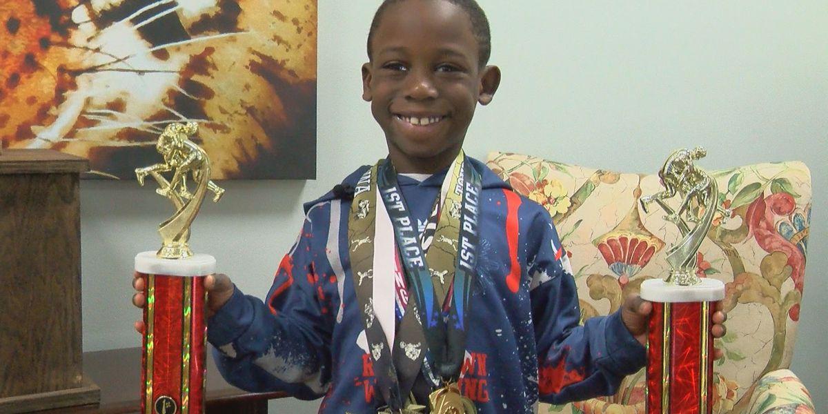 Student Spotlight: All-star wrestler at 7 years old