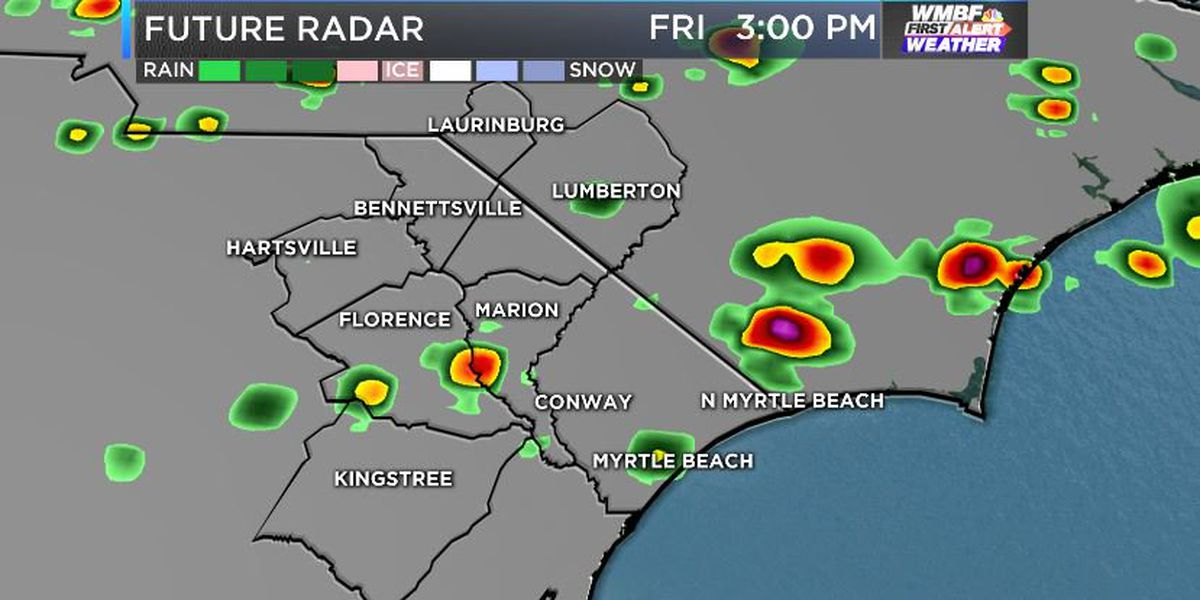 FIRST ALERT: Heat eases a bit, a few strong storms this afternoon