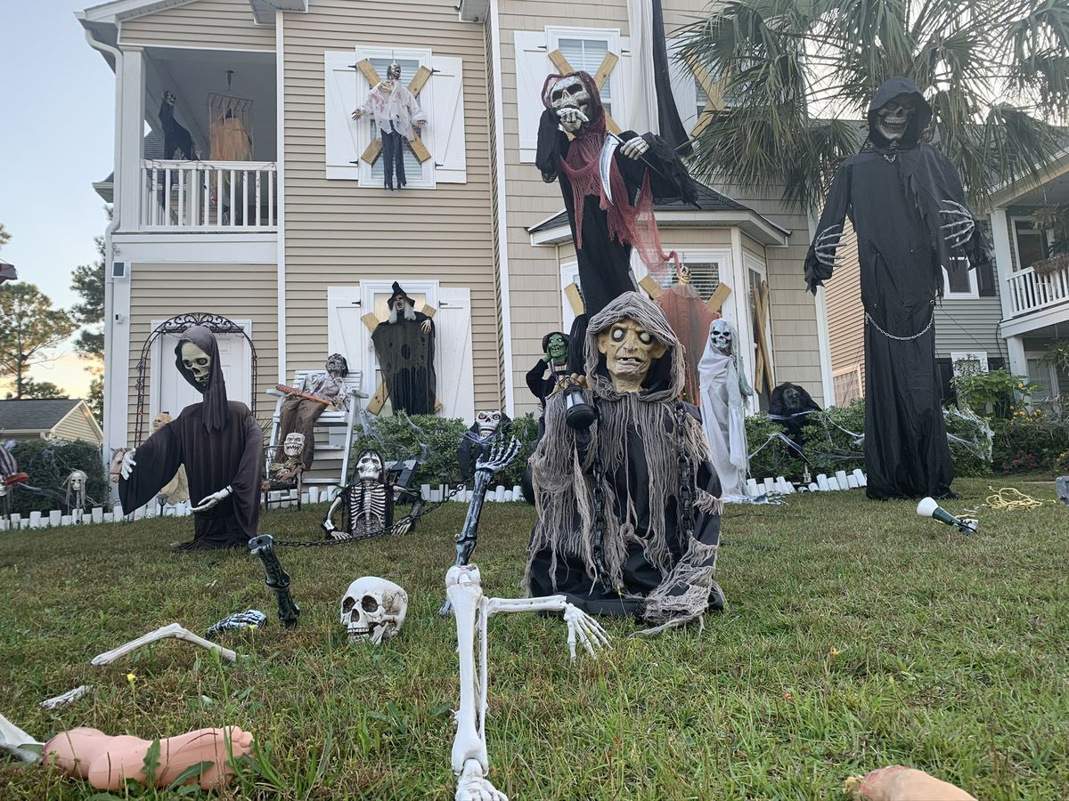 'It got bigger and bigger': Carolina Forest man decks out home with over 100 Halloween decorations