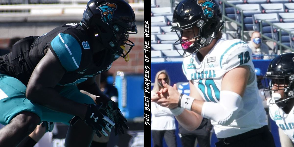 CCU's Jackson and McCall earn Sun Belt Player of the Week honors