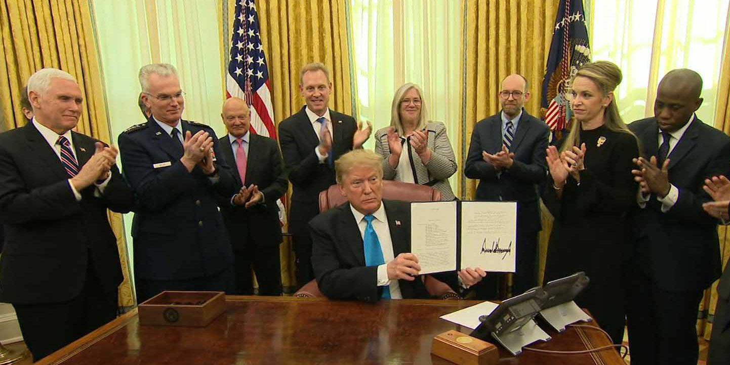 Trump orders creation of Space Force, but within Air Force