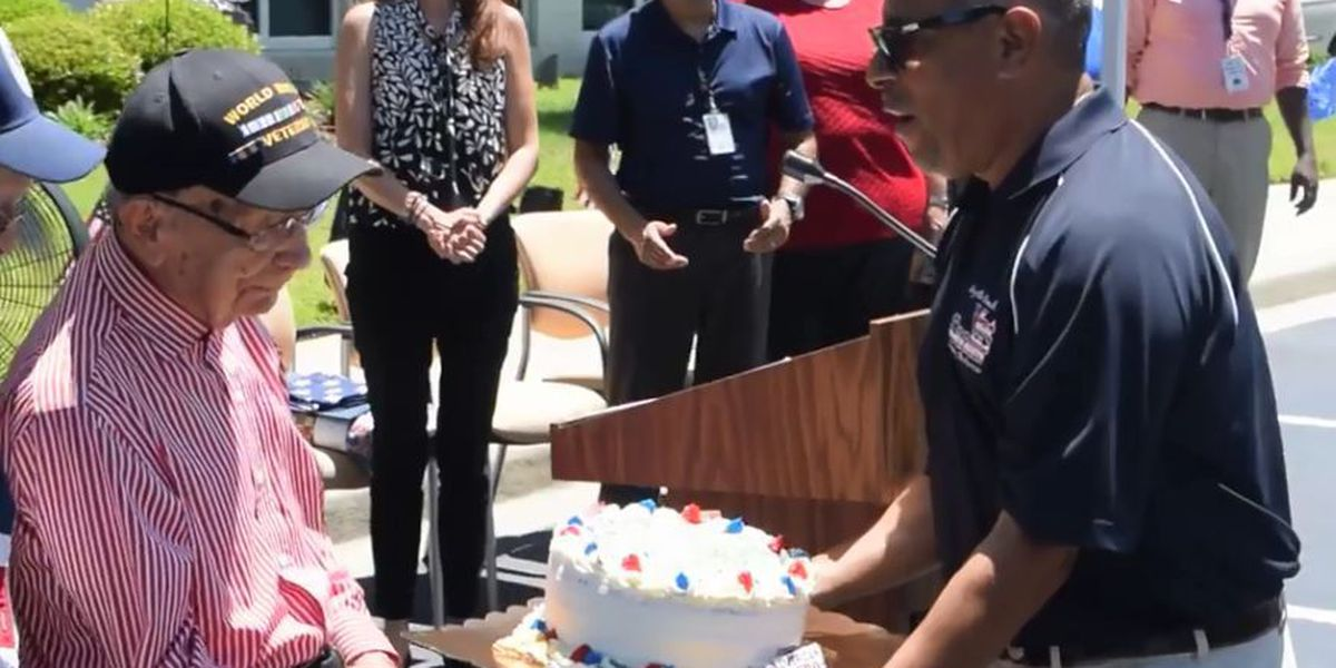 WWII vet celebrates 100th birthday ahead of Military Appreciation Days Parade