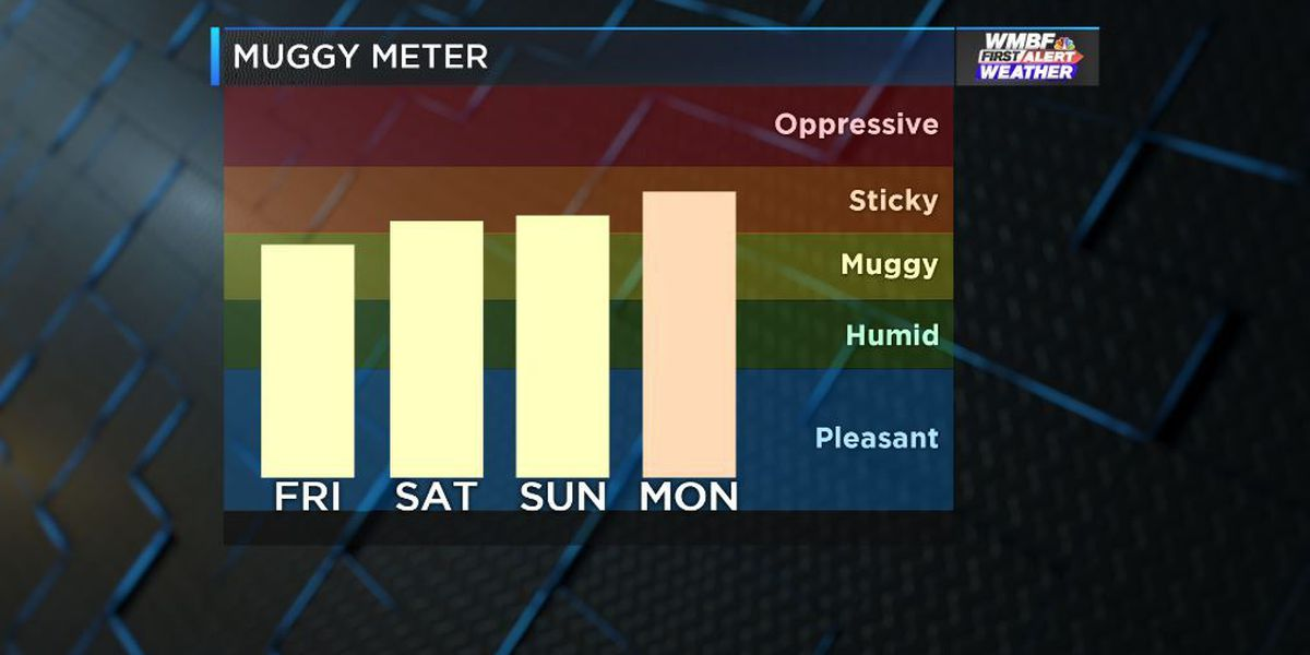 FIRST ALERT: Increasing humidity and a few storms through the weekend