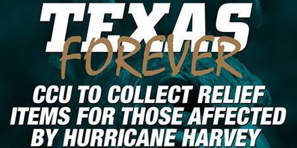 CCU collecting supplies for Harvey relief efforts