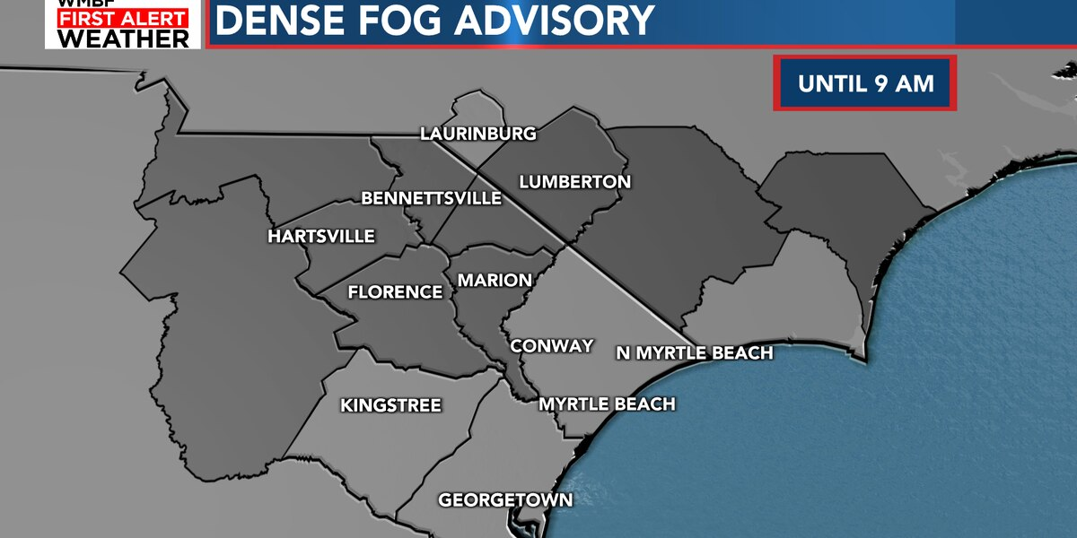 FIRST ALERT: Foggy morning, temperatures climb into the 70s today