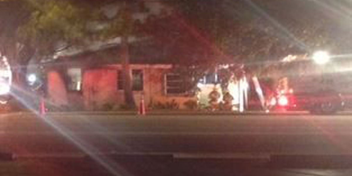 Fire crews fight flames at Conway home