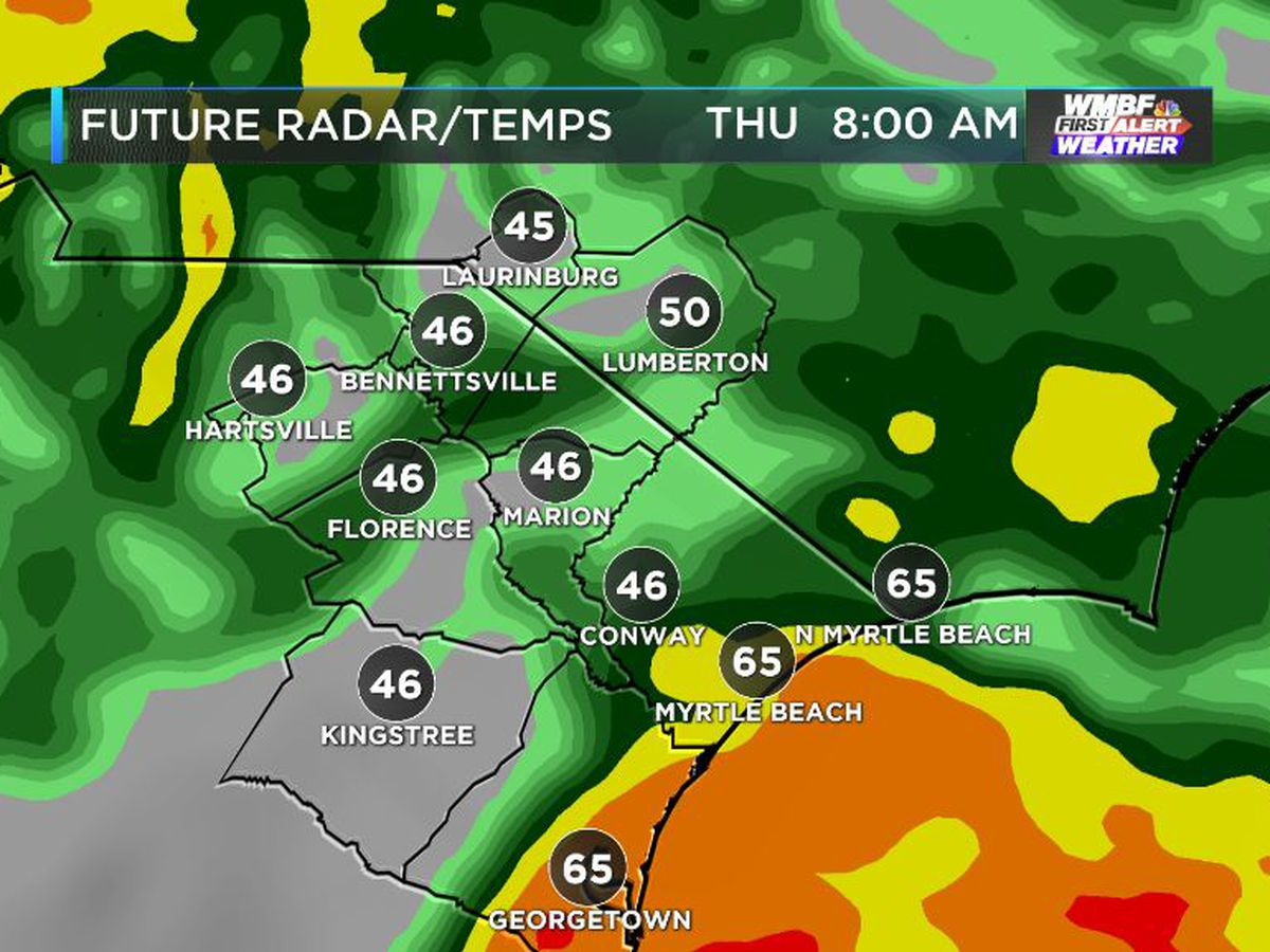 FIRST ALERT: Temperatures, rain chance increase tonight, fall steadily Thursday