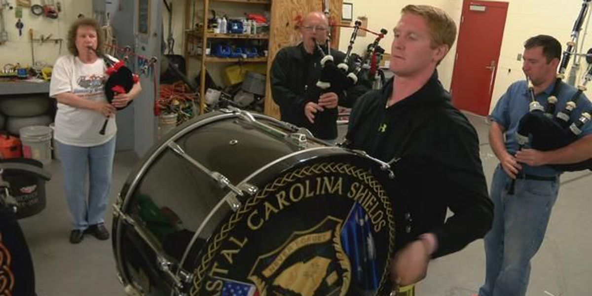 Pipes and drums band to honor Conway firefighter at Thursday funeral