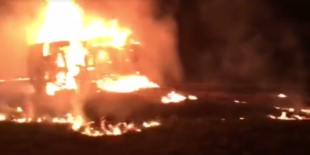 One person injured in fiery I-95 crash in Florence County