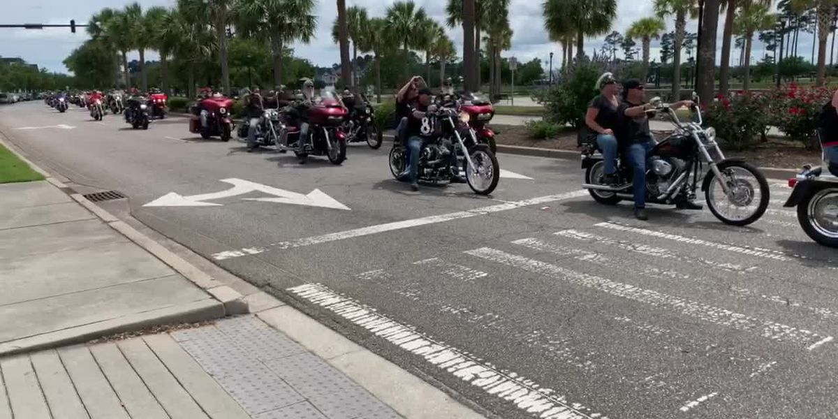 Hundreds of bikers take part in 'Unification Run' through the Grand Strand