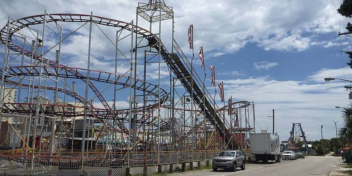Man falls 25 feet off roller coaster in North Myrtle Beach
