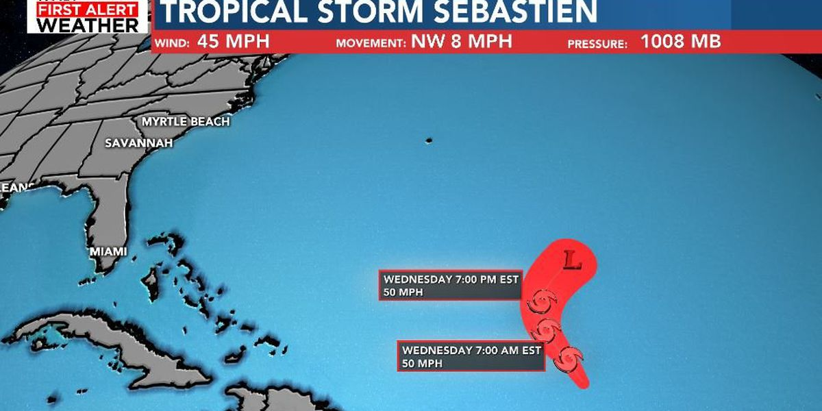 TROPICS: No Threat To Land, Tropical Storm Sebastien Forms In Atlantic