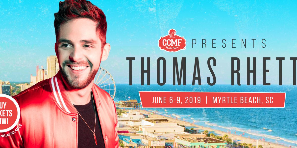 Thomas Rhett scheduled to perform at 2019 CCMF