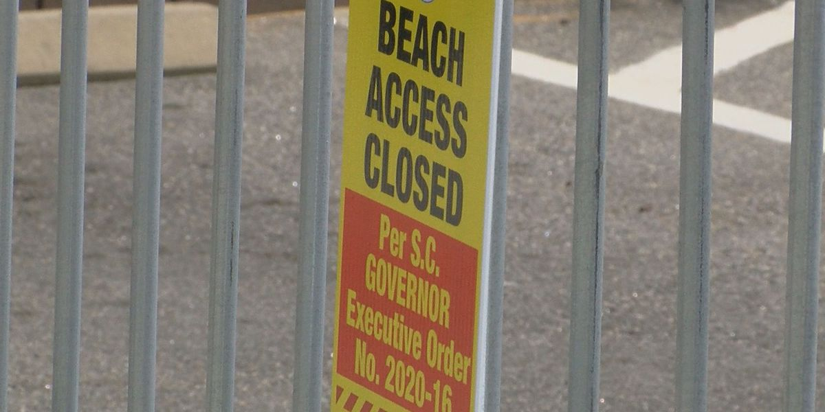Police issue citations for people violating public beach access ban along Grand Strand