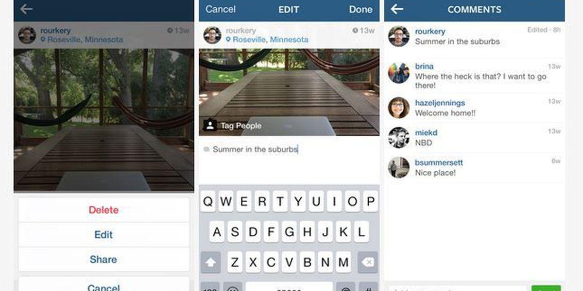 Instagram announces new caption editing feature