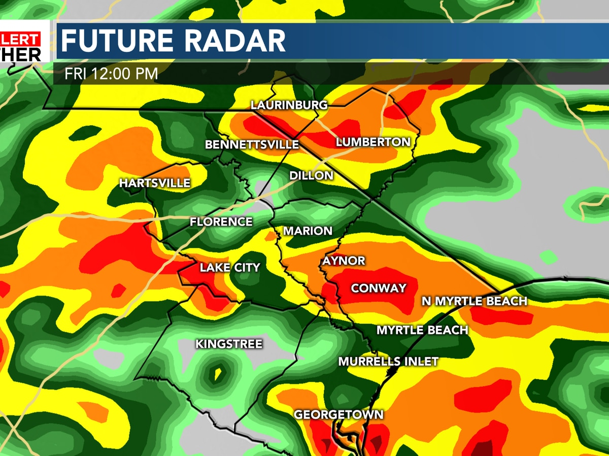 FIRST ALERT: Heavy, steady rain arrives Friday morning