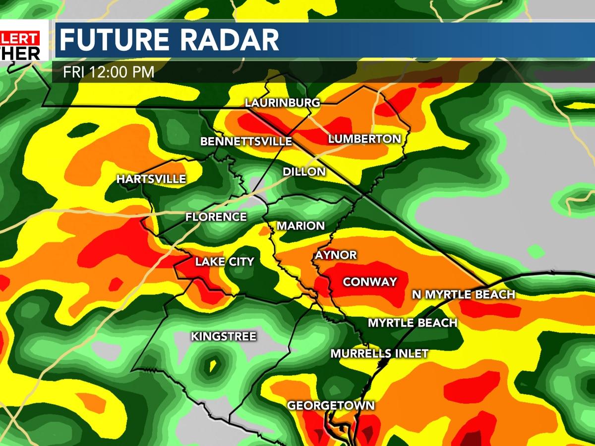 FIRST ALERT: Heavy, steady rain arrives Friday morning