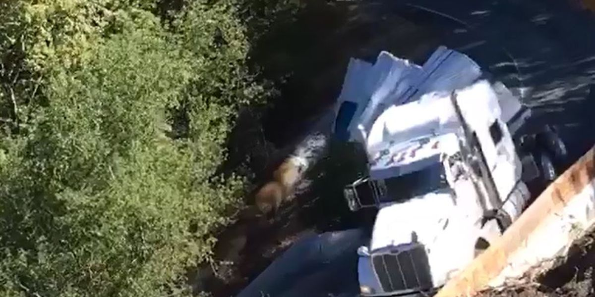 CLIFFHANGER! Truck driver loses rig after ignoring warning signs