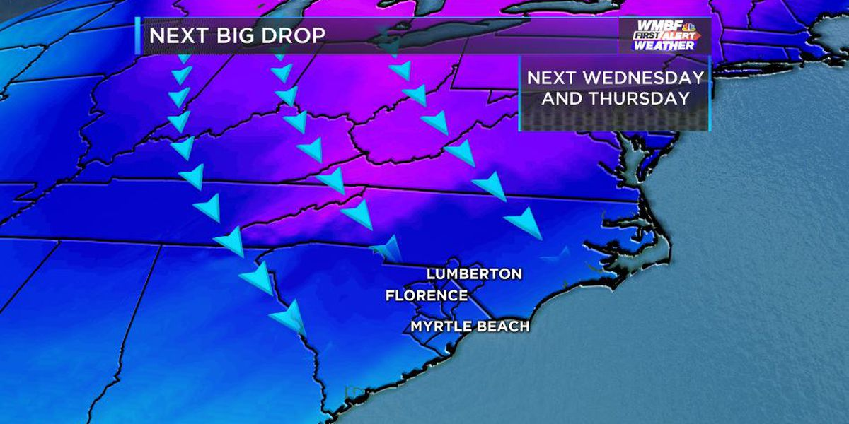 FIRST ALERT: Coldest air of the season so far set to arrive next week