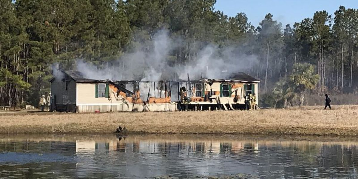 One person injured following mobile home fire in Horry County