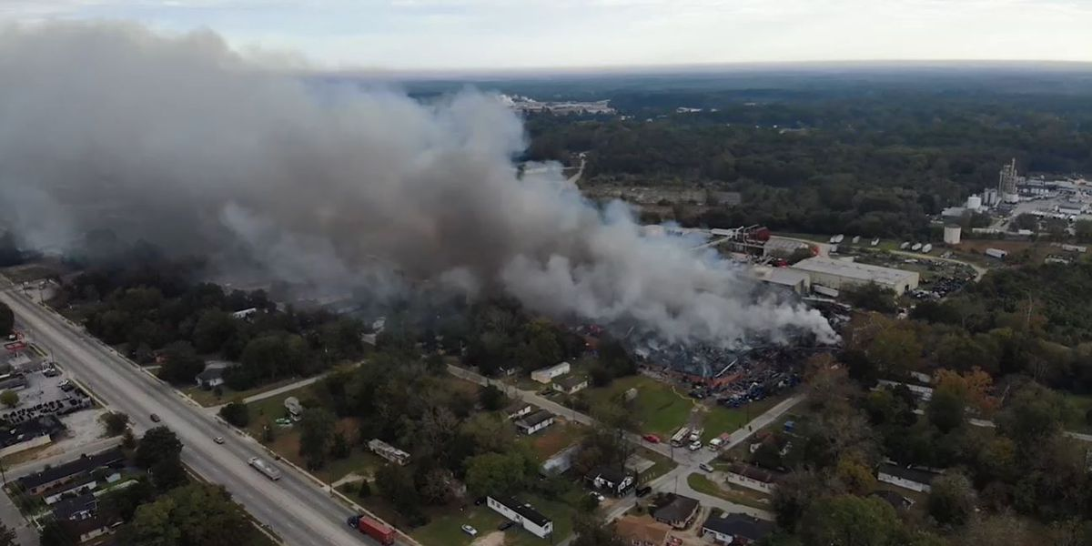 Fire at Sumter recycling warehouse could burn for days, officials say