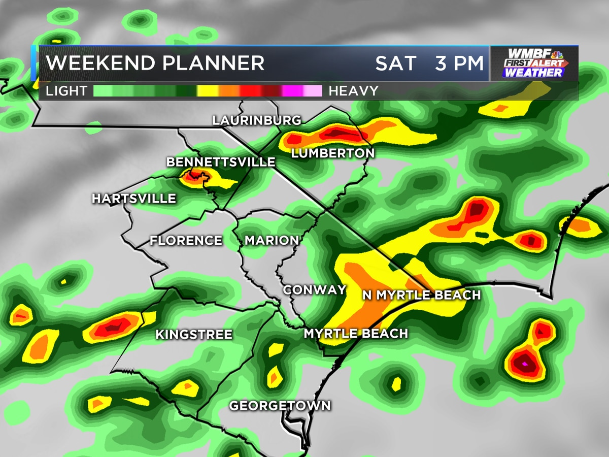 Heavy rain likely into the weekend