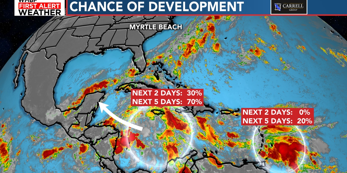 FIRST ALERT: Watching two chances of development