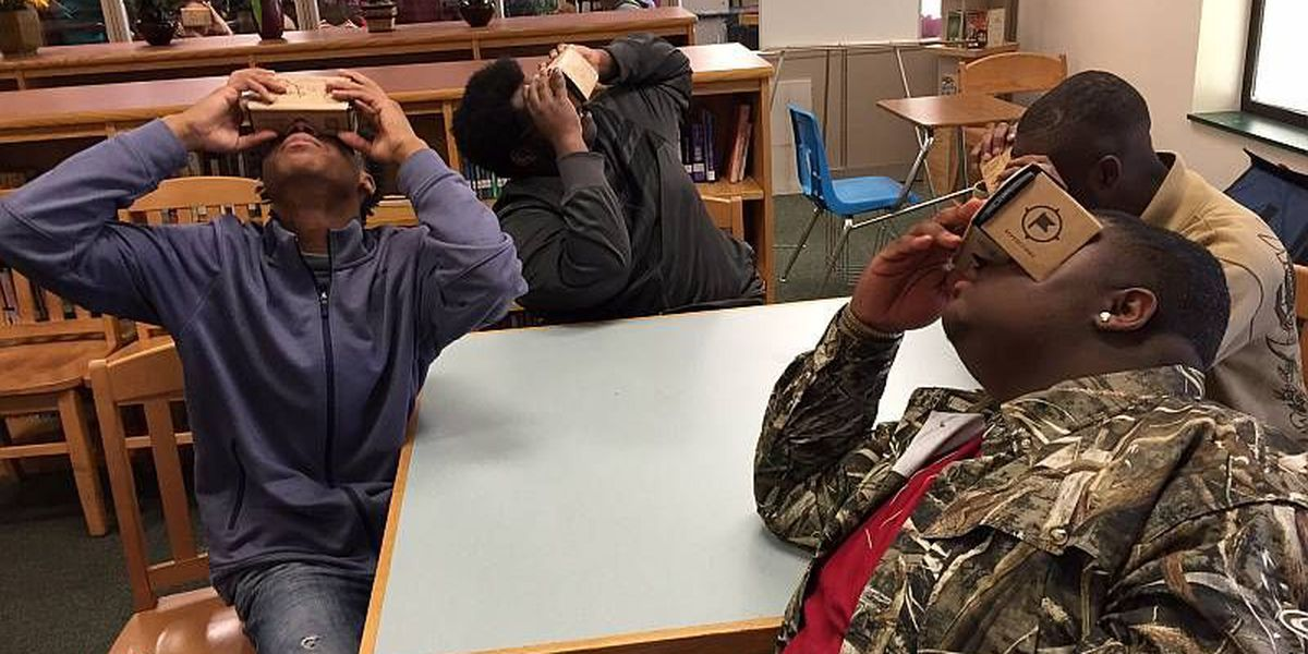 Students take 'virtual field trip' with Google Cardboard VR viewers