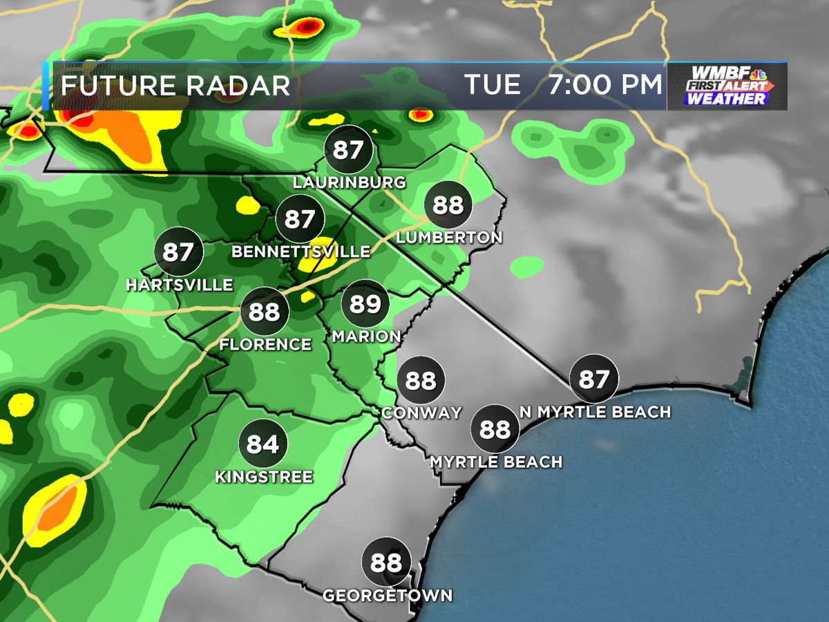 First Alert: Summer humidity and afternoon storms continue