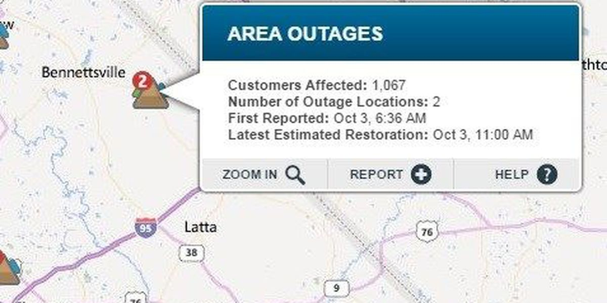 Duke Energy power restored to most of the Pee Dee