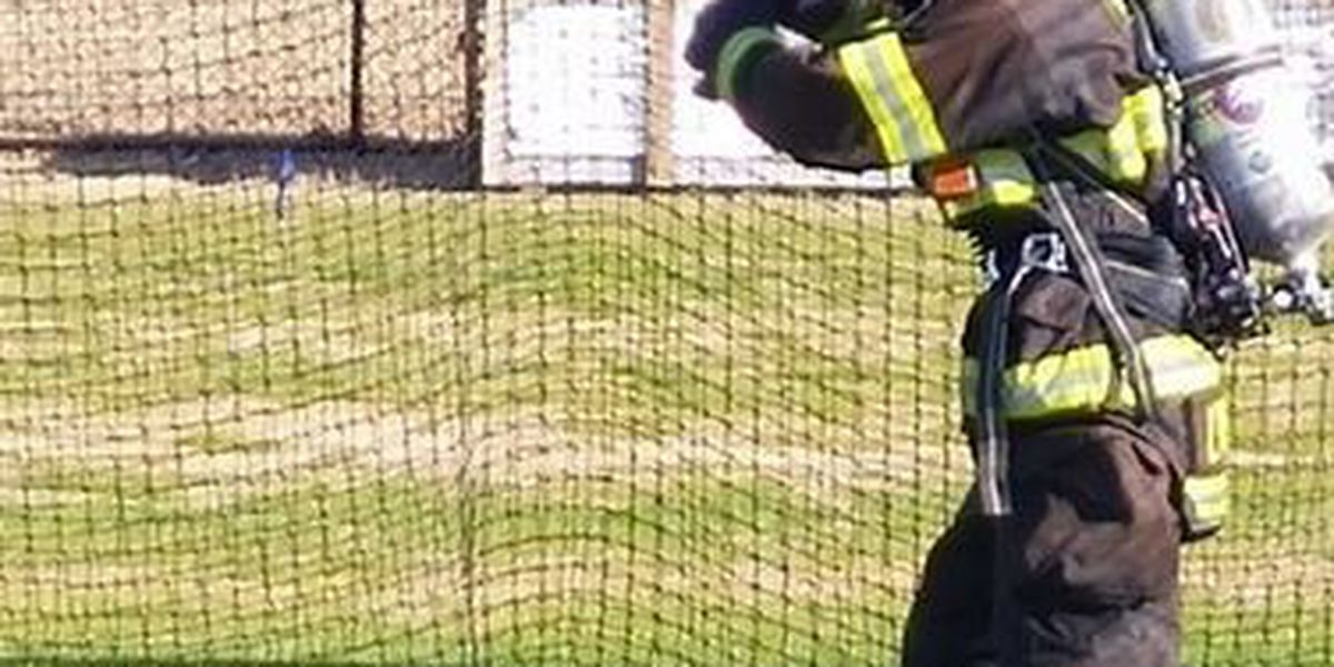 NMB firefighters train inside batting cages