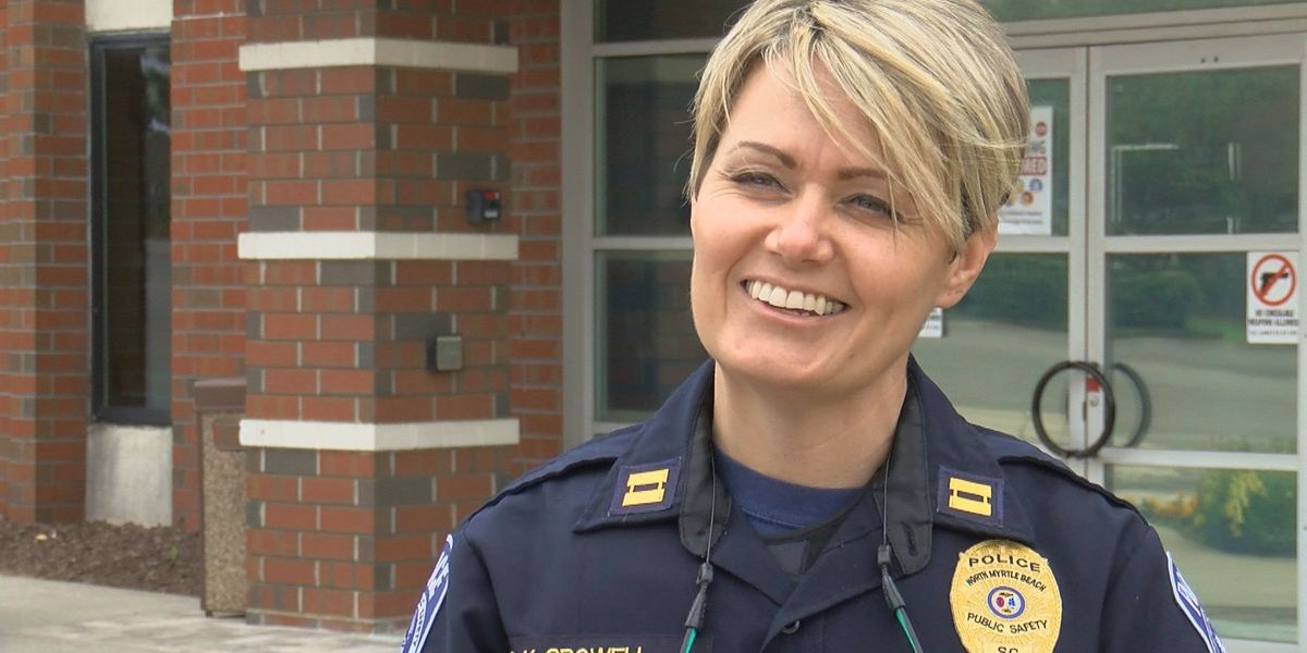 North Myrtle Beach police promote female to captain for first time in 20 years