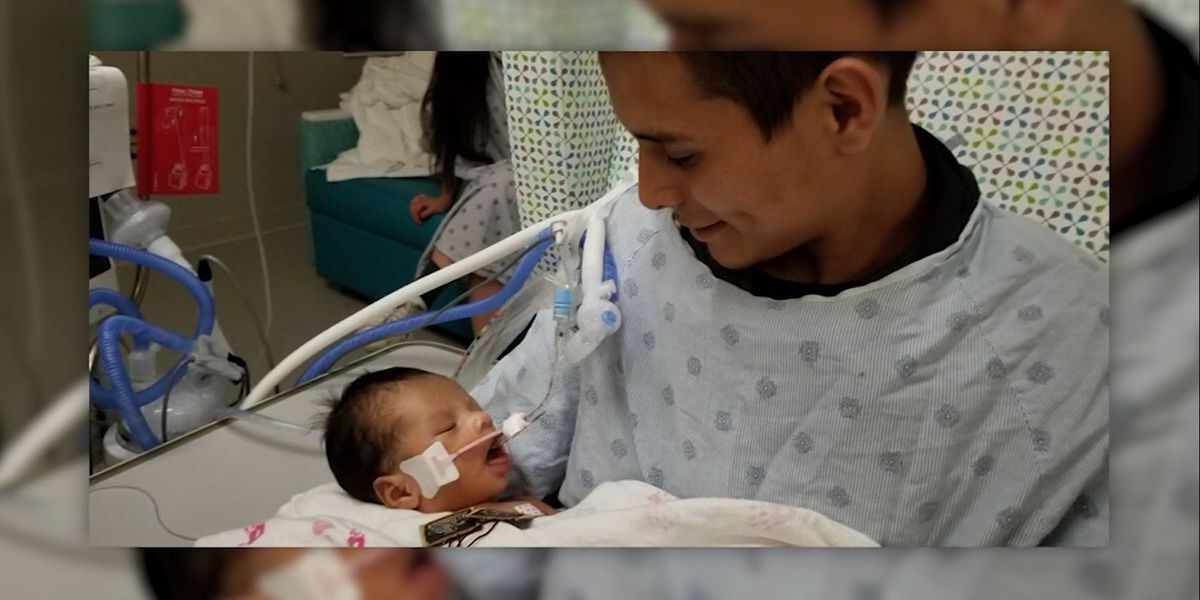 Baby cut from missing teen's womb opens eyes