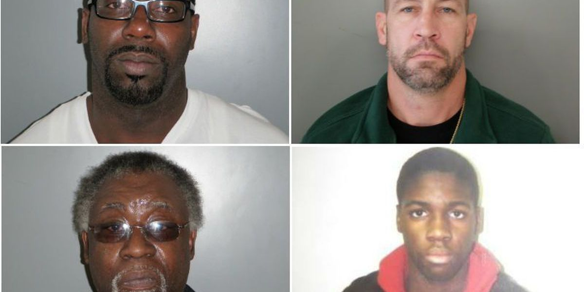 Georgetown authorities seeking 4 sex offenders who failed to register