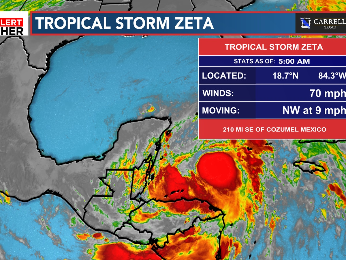 FIRST ALERT: Zeta to become a hurricane today
