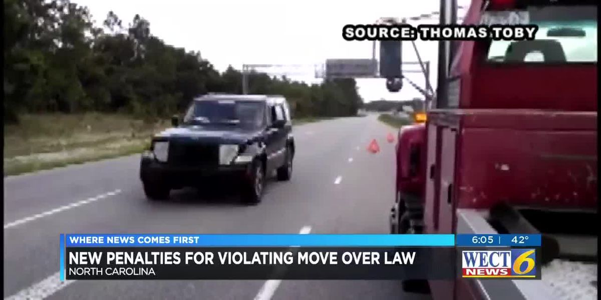 Drivers could face tougher penalties for violating the move over law