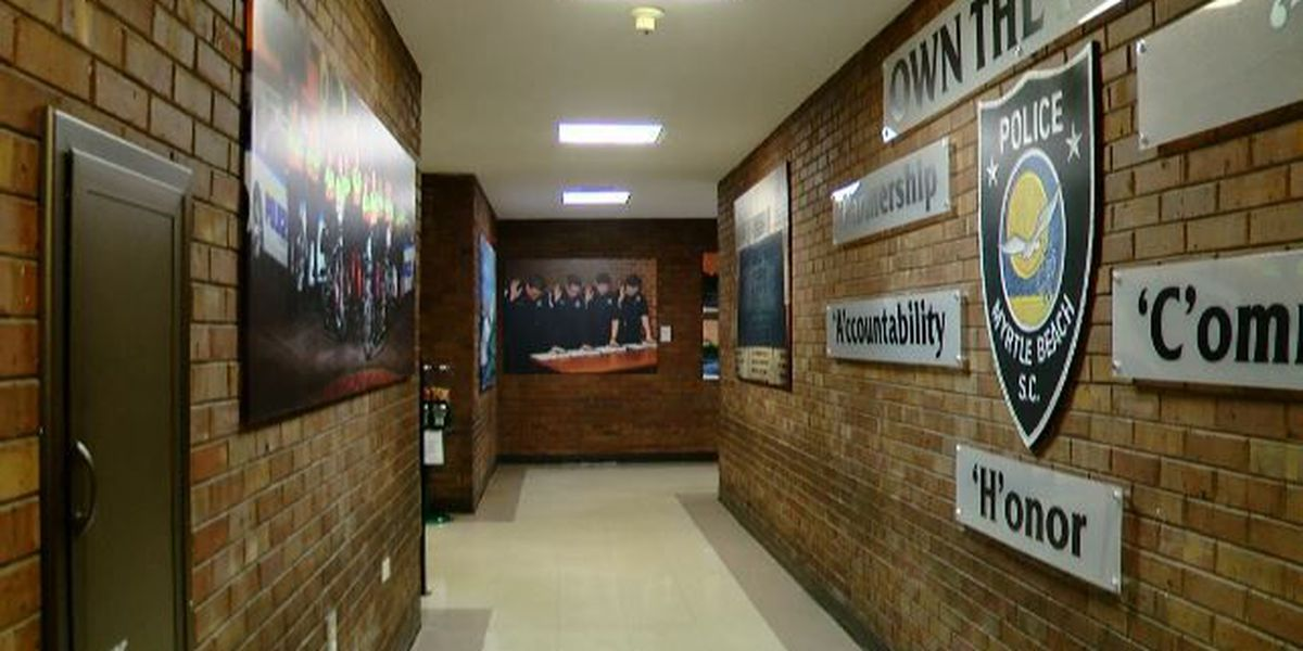 Myrtle Beach police transform hallway into motivation gallery showing what it means to serve