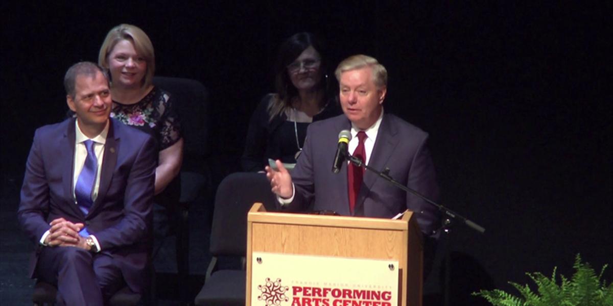 Sen. Graham speaks at Trinity-Byrnes Collegiate School graduation