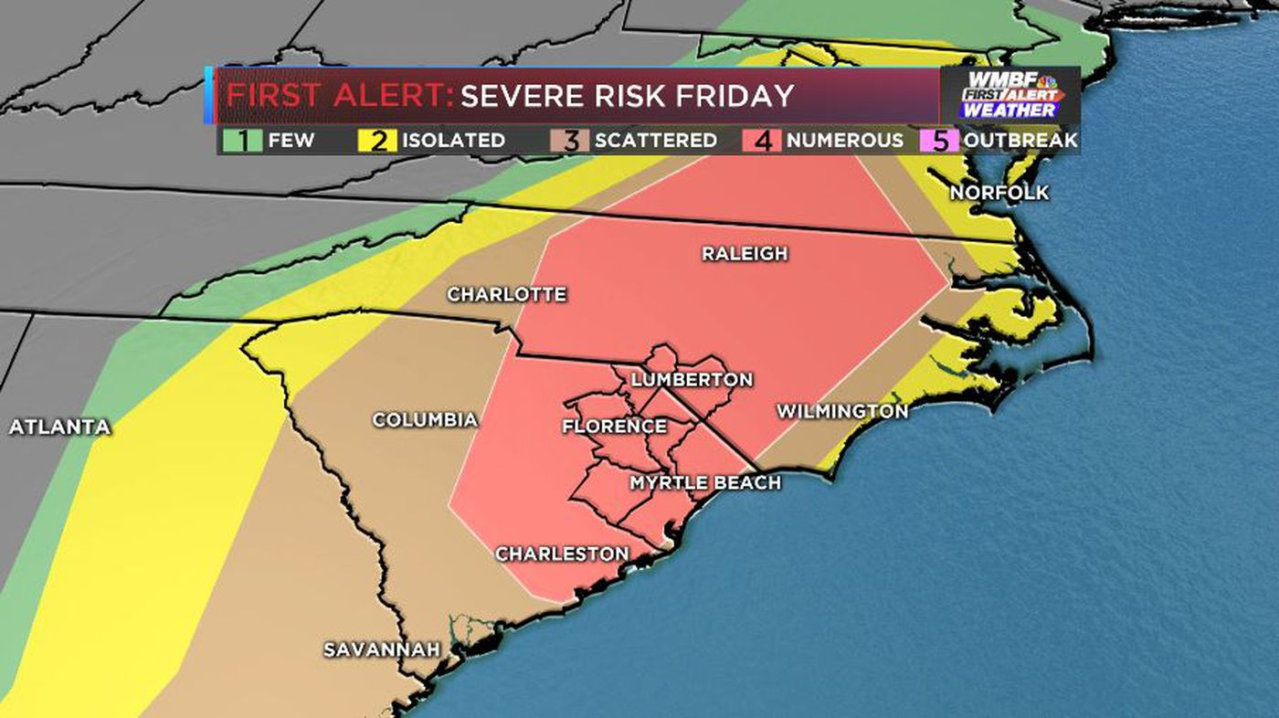 FIRST ALERT: Upgraded risk of severe storms, isolated