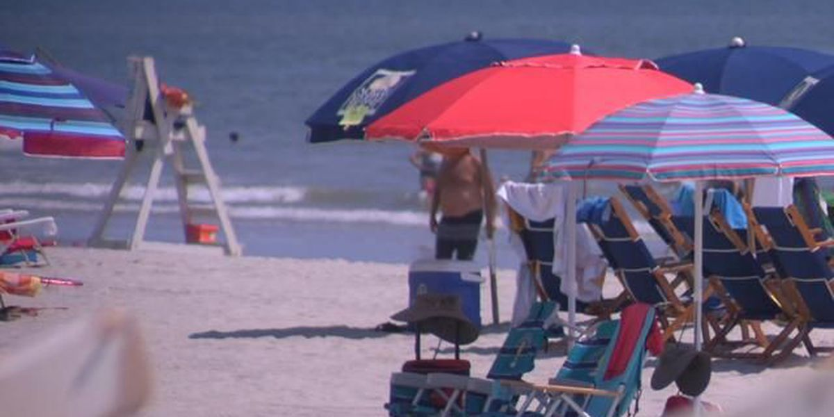 Beginning Monday, only umbrellas will be allowed on the beaches in Myrtle Beach