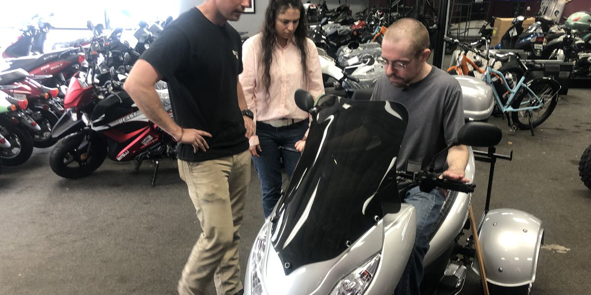 Man with disabilities conquers bucket list item of driving thanks to SC scooter shop