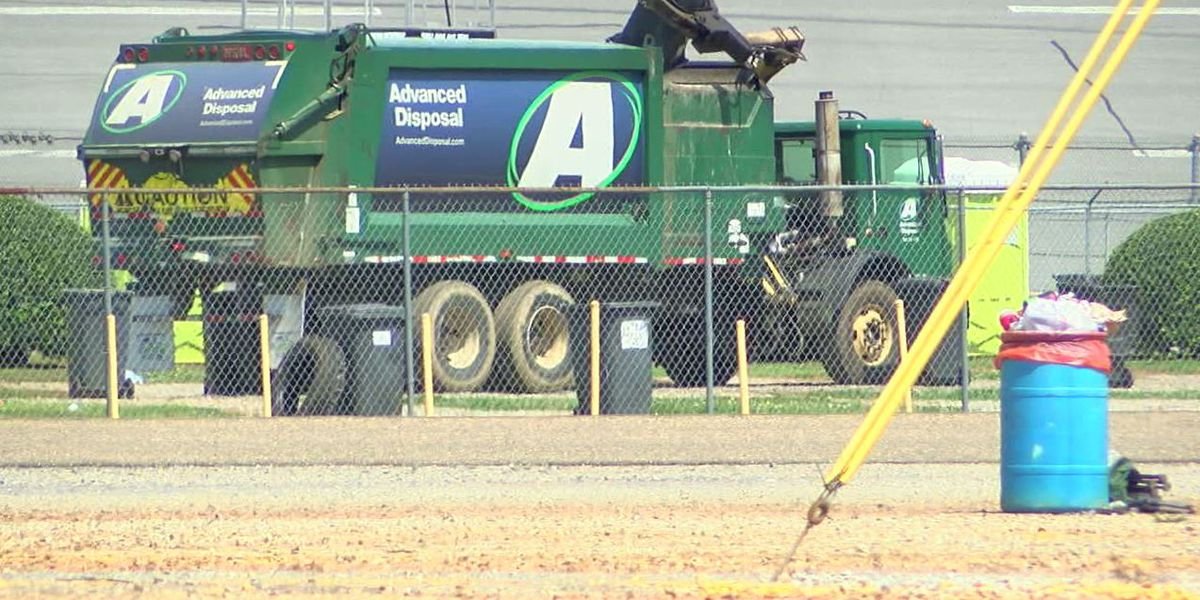Talladega Superspeedway tweets pics of stuff left behind after race